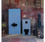 Vägghängd toalettstol Gustavsberg Estetic 8330 C+ svart